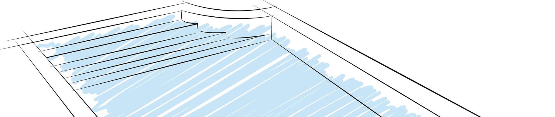 MANOIR, the swimming pool design