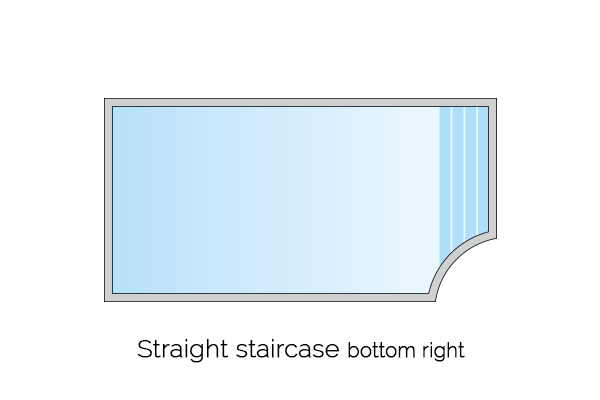 straight staircase bottom right