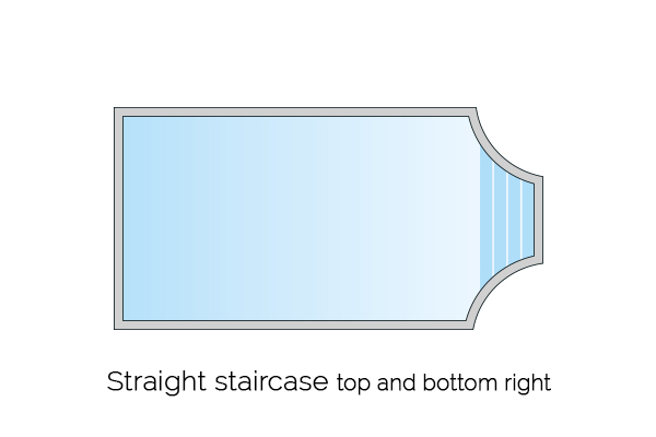 straight staircase top and bottom right