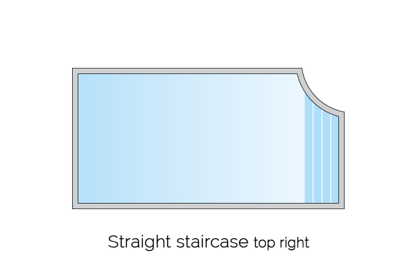 straight staircase top right